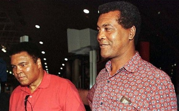 Muhammad Ali with his friend the late Teofilo Stevenson during a visit to Havana. Photo: cubadebate.cu