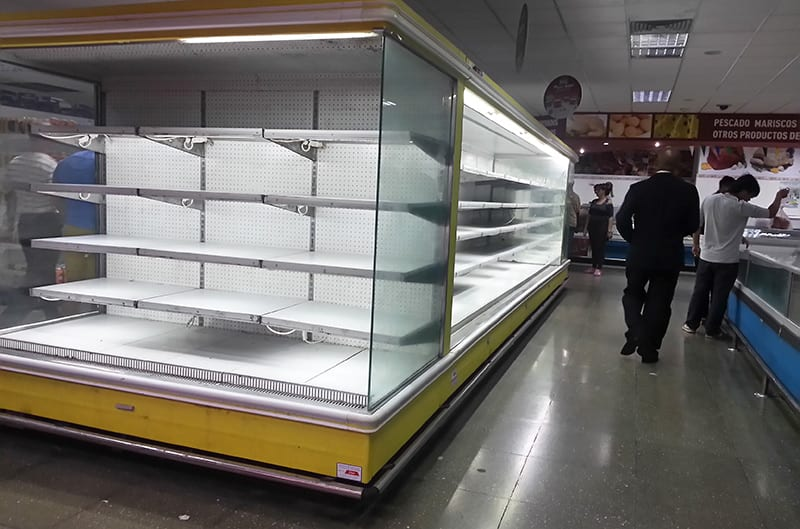 Shortages in Cuban stores are a direct effect of reducing imports.