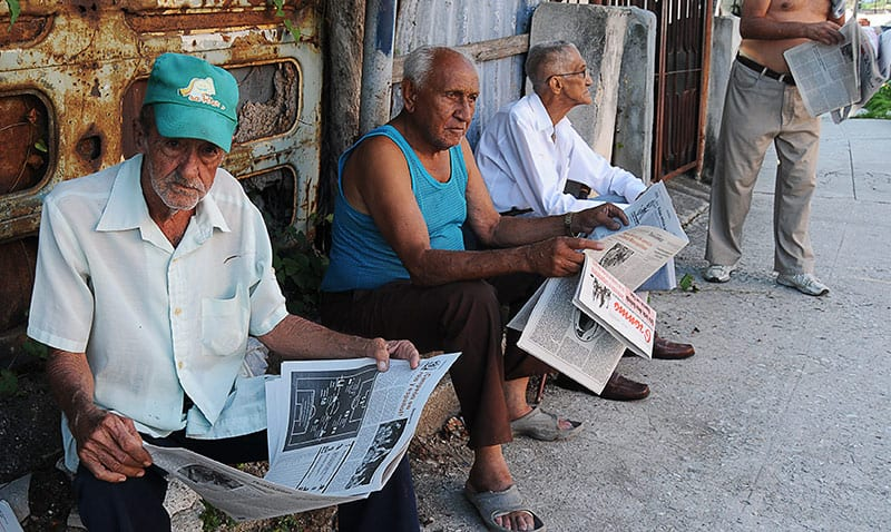Most journalists know that the official press has lost so much credibility that it is not even doing effective propaganda. Photo: Raquel Perez Diaz