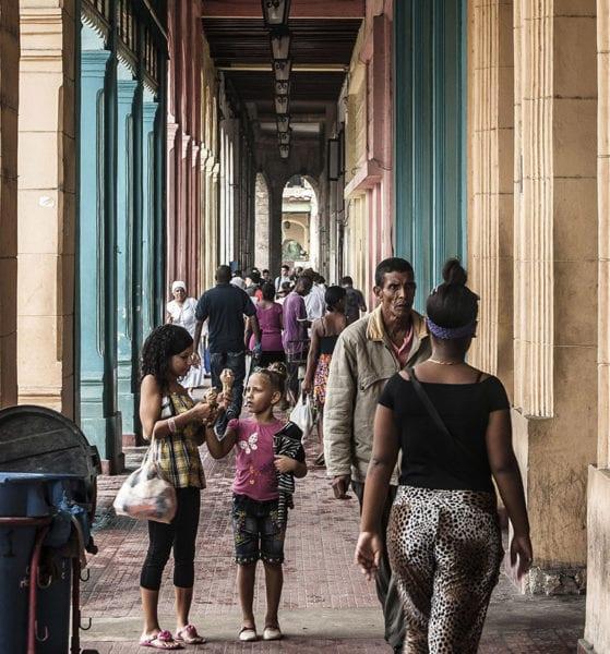 A Havana walkway. Photo: Caridad