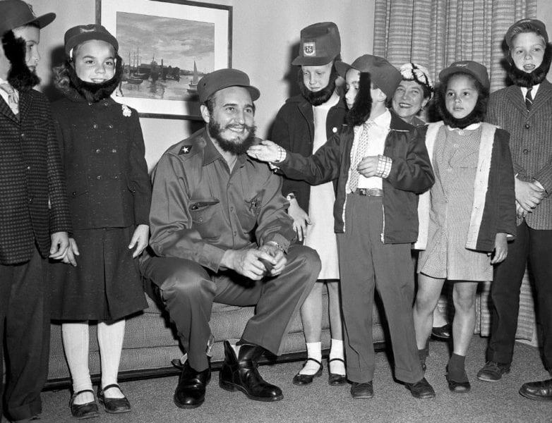 Fidel Castro with schoolchildren in New York City in 1959. Photo: George Mattson