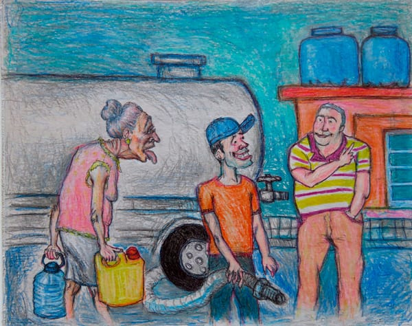 The price of water.  Illustration: Carlos