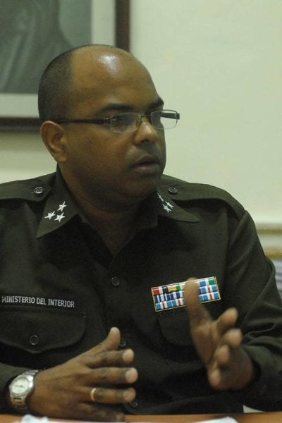 Col. Idael Fumero Valdes, head of the Information and Analysis Department of the Ministry of Interior.