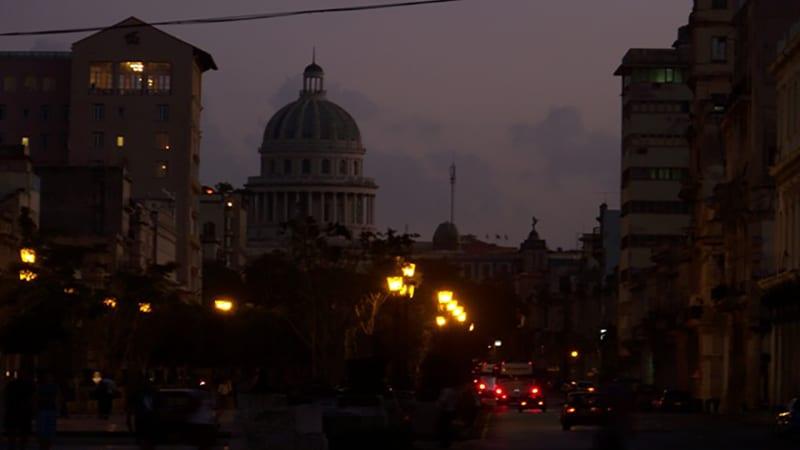 Apagón en La Habana. Foto: Sputnik news