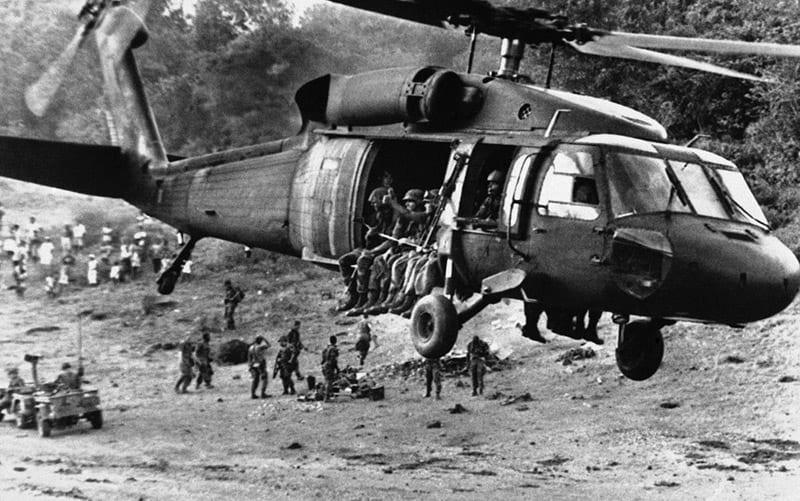 The US invasion of Grenada.