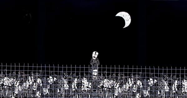 Illustration: Fence, Moses Yagües (http://bit.ly/LaVallaMoisésYagüez)