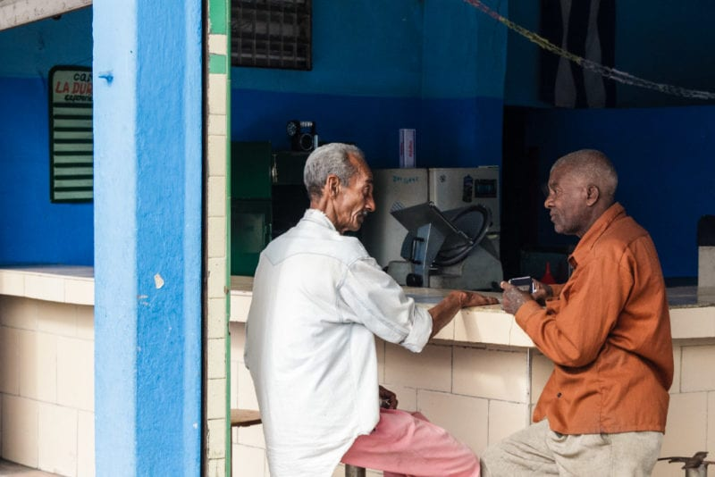 Discutiendo sobre política. Foto: Juan Suárez