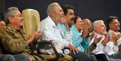 Fidel Castro at the Karl Marx Theater on his birthday, August 13, 2016. Photo: Estudios Revolución