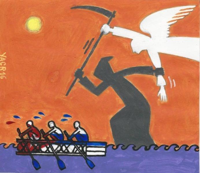 Luchando (struggling) by Yasser Castellanos