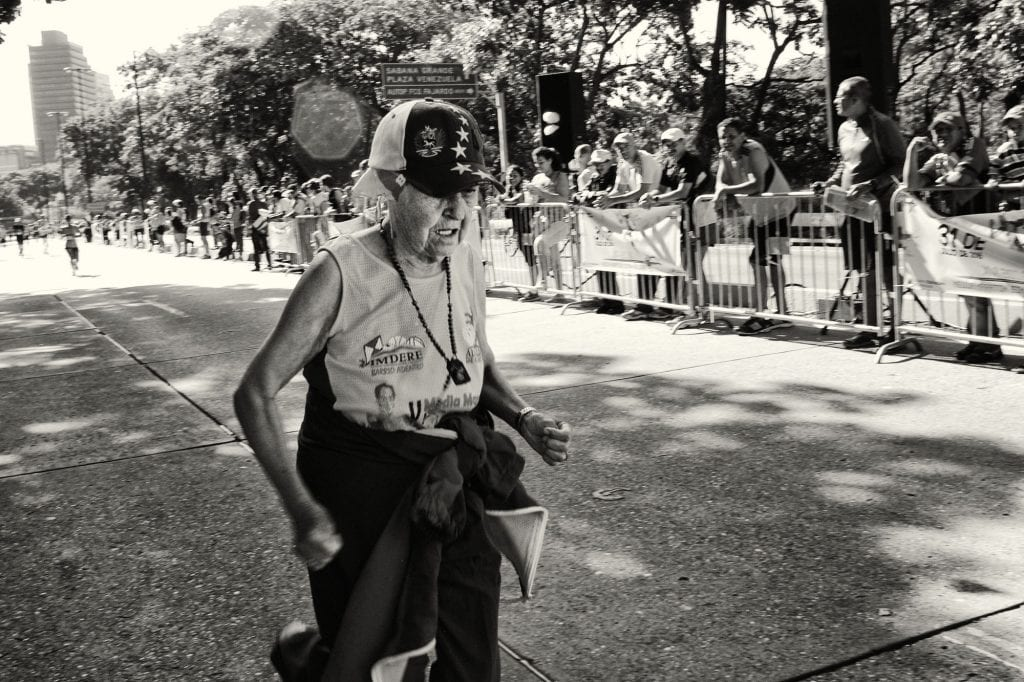 Teresa in the Simon Bolivar Half Marathon in Caracas.