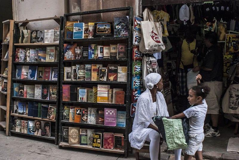 Bookseller in Old Havana. Photo: Caridad