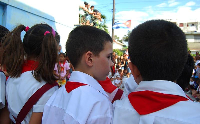 Cuban primary school children.