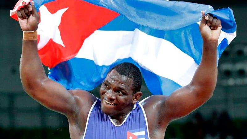 Mijaín López campeón cubano de lucha grecorromana.