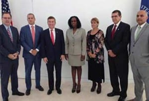 Cuban and US delegations during the first session of the bilateral Economic Dialogue in Washington D.C.