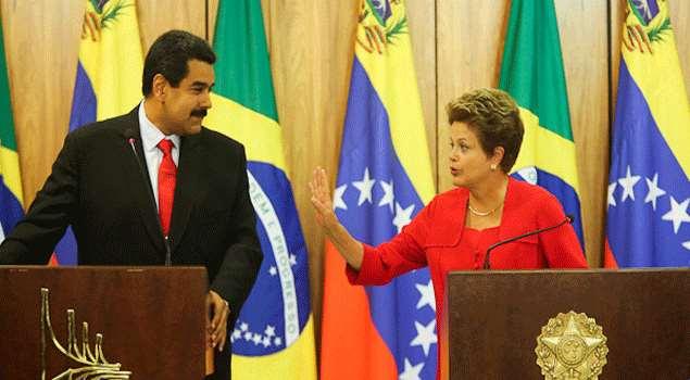 Dilma Rousseff y Nicolas Maduro