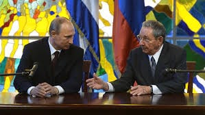 Presidents Putin y Castro. Photo: aporrea.org