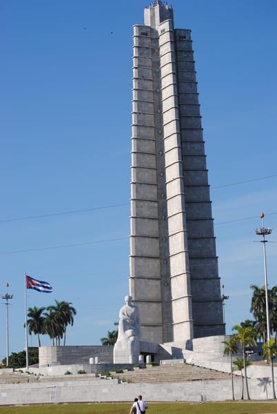 El Memorial Martí en la Plaza de la Revolución.