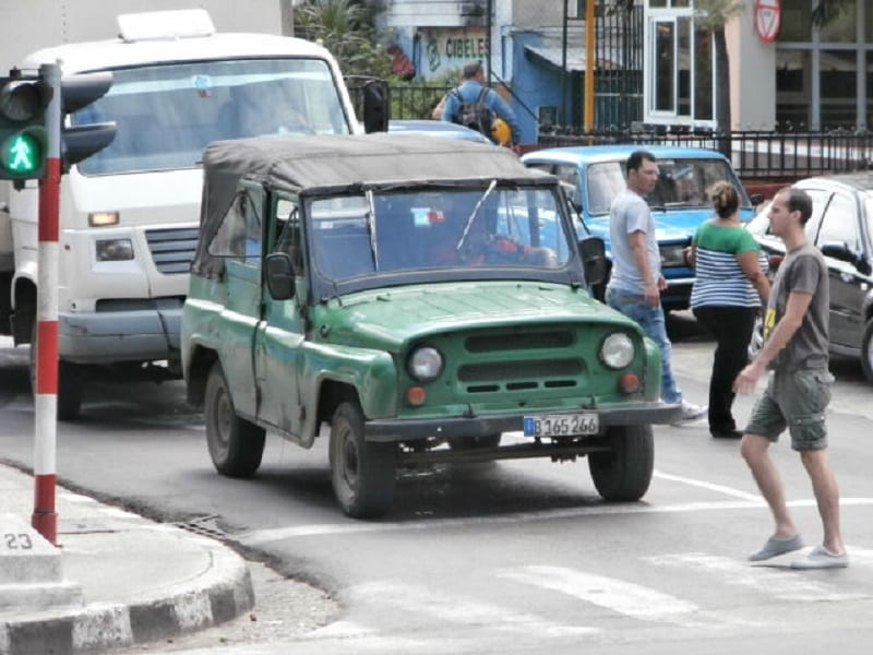 Soviet jeep from the 1960s