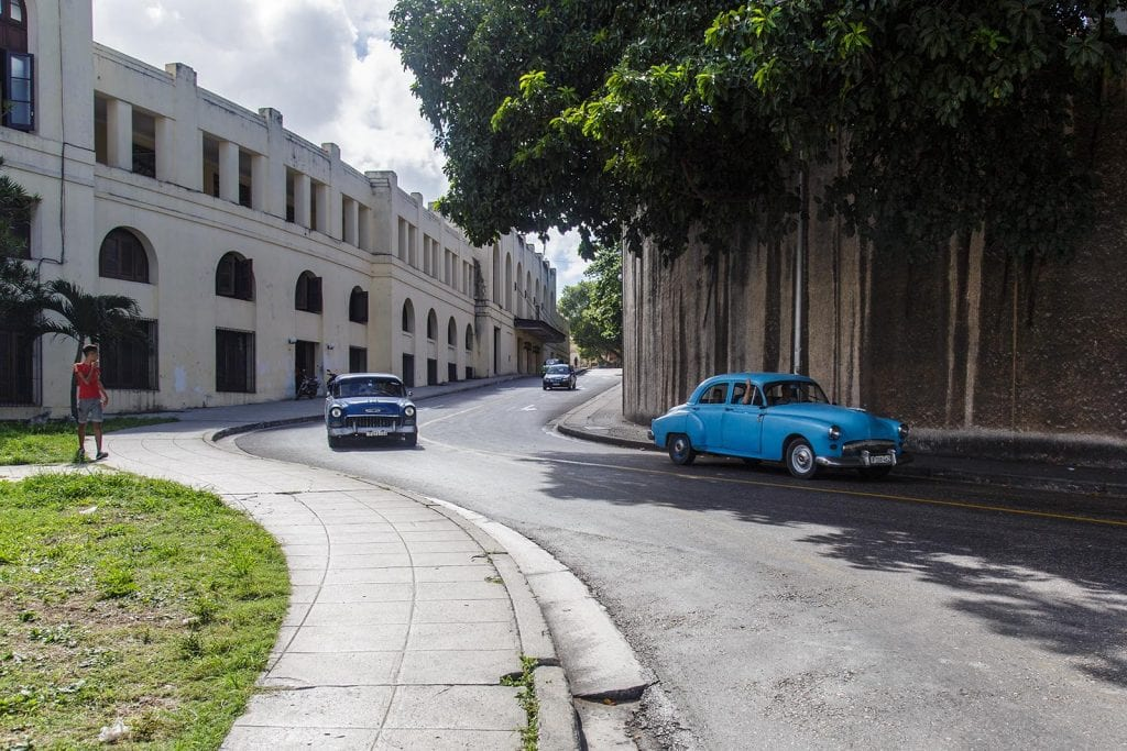On the perimeter of the University of Havana.