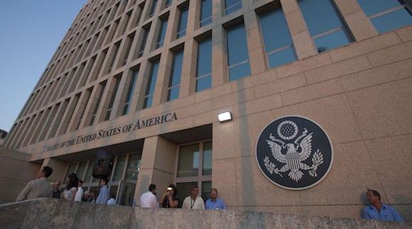 La embajada de Estados Unidos en Cuba. Foto: Ismael Francisco/cubadebate.cu