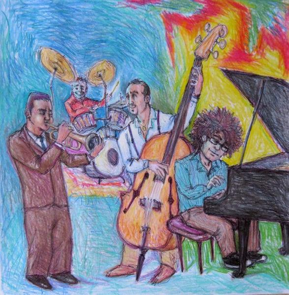 Preparando para Jazz Plaza 2016. Ilustración por Carlos