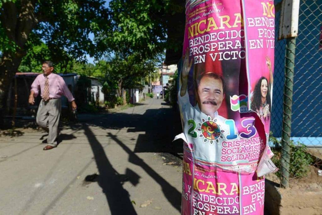 Campaign publicity of the Ortega-Murillo ticket under the FSLN. Photo: Carlos Herrera/confidencial