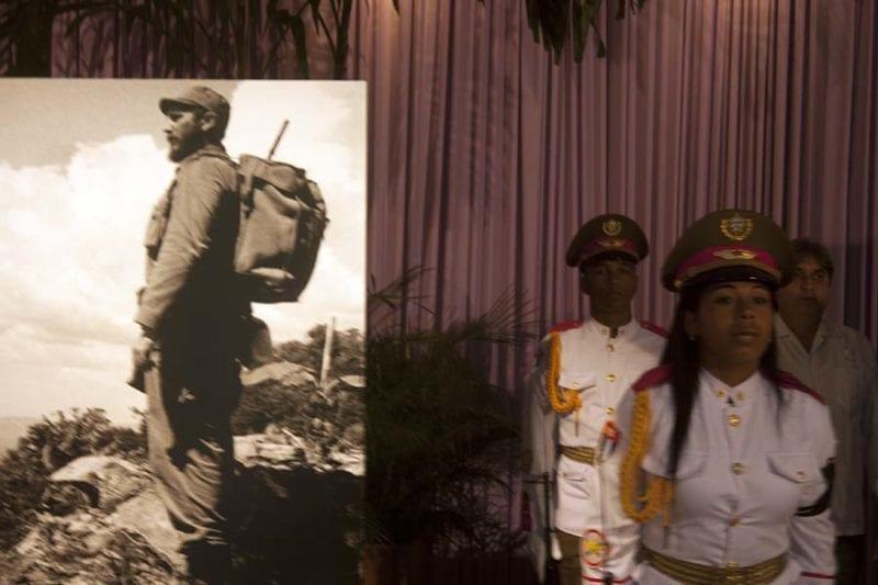 Honor Guard for Fidel Castro.