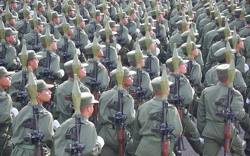 Los ejercicios militares Bastión, que se anuncian junto a la noticia de la elección de Trump, se iniciaron cuando ganó las elecciones Ronald Reagan. Foto: Raquel Pérez Díaz