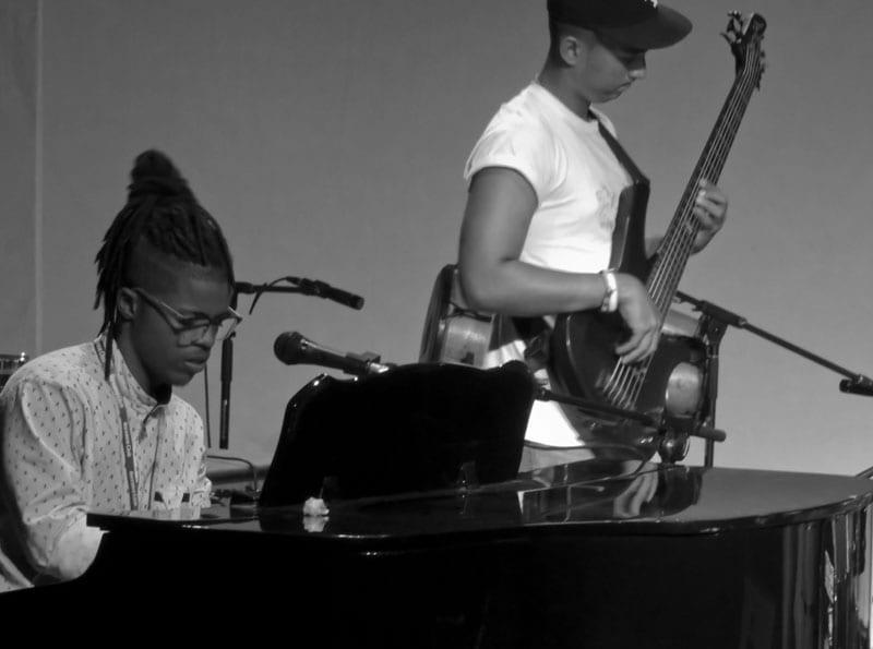 Carlos Javier Alcantara on piano at JoJazz 2016.