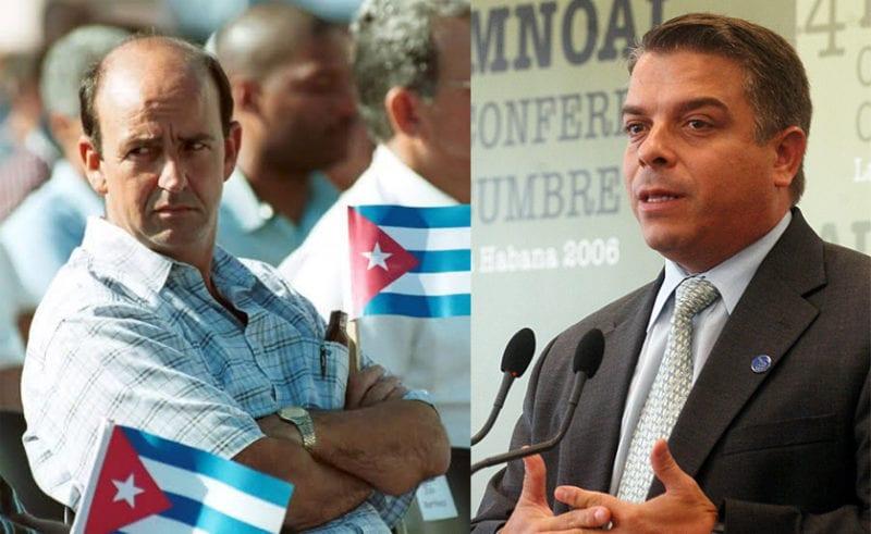 Carlos Lage (l) and Felipe Perez Roque.