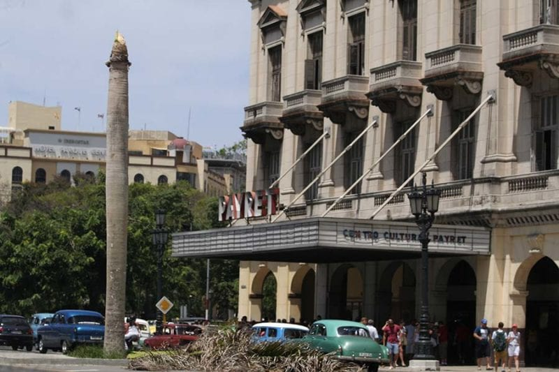 """The """"Real"""" Palm tree in front of the Capitolio building."""