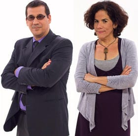 Dissidents Antonio Rodiles and Ailer González (Photo: Luis Leonel León/Diario las Américas).