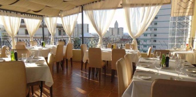 Cafe Laurent in Vedado, Havana.