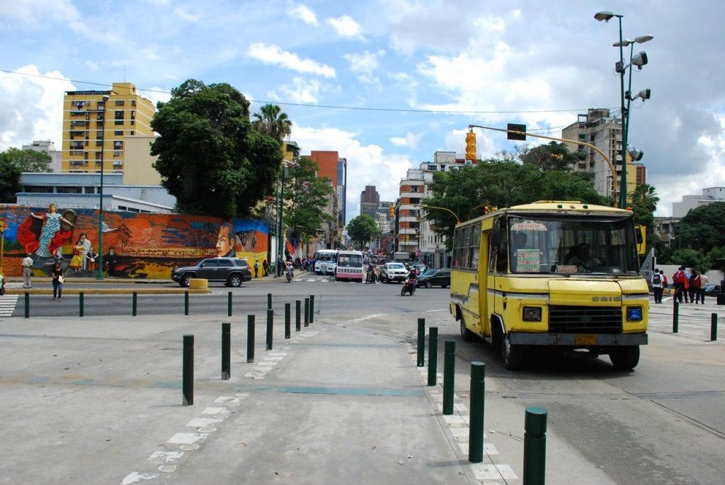 "A ""camioneta"" (small bus) in Caracas"