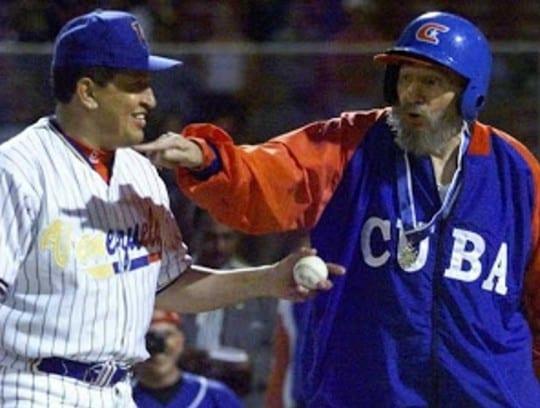 Hugo Chávez con Fidel Castro.