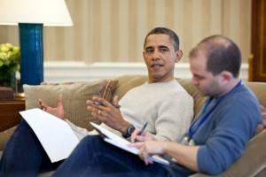 Barack Obama and his advisor Ben Rhodes. Photo: www.americanthinker.com