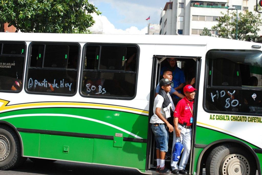 Bus service in Caracas