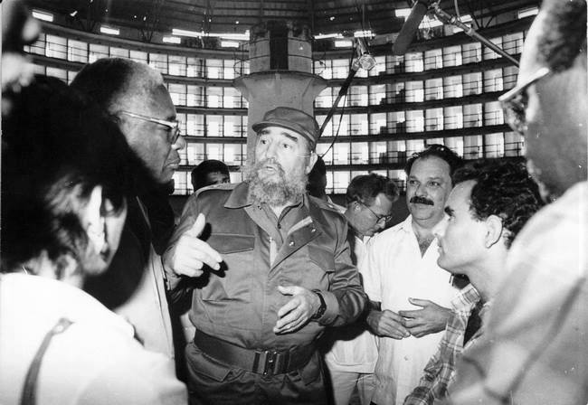 Fidel Castro during one of his many visits to the Isle of Youth (Isla de la Juventud).  Photo: islavision.icrt.cu