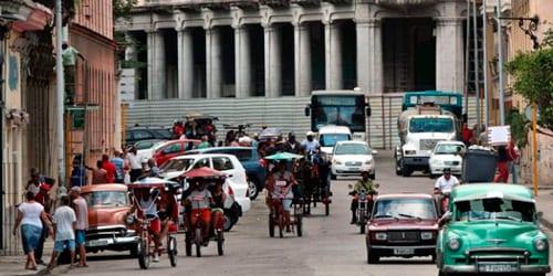 People in the street, Havana.