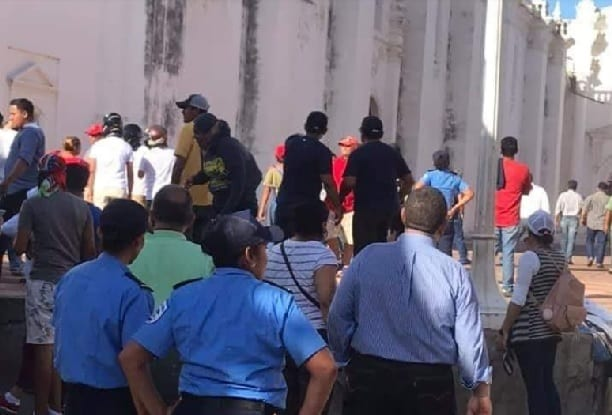 Ortega Mobs Attack the Cathedral in Leon, Nicaragua