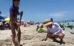 Escultura en arena - la ancla