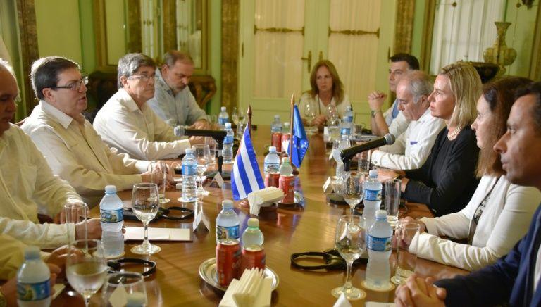 | Bildquelle: EU-Außenbeauftragte Federica Mogherini trifft im September 2019 in Havanna mit Kubas Außenminister Bruno Rodriguez zusammen © AFP Photo- Adalberto Roque | Bilder sind in der Regel urheberrechtlich geschützt